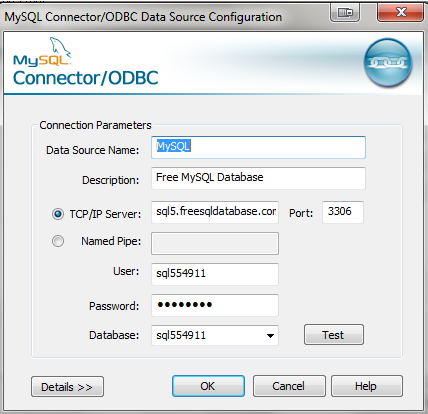 ODBC Data Source Configuration Resim 5