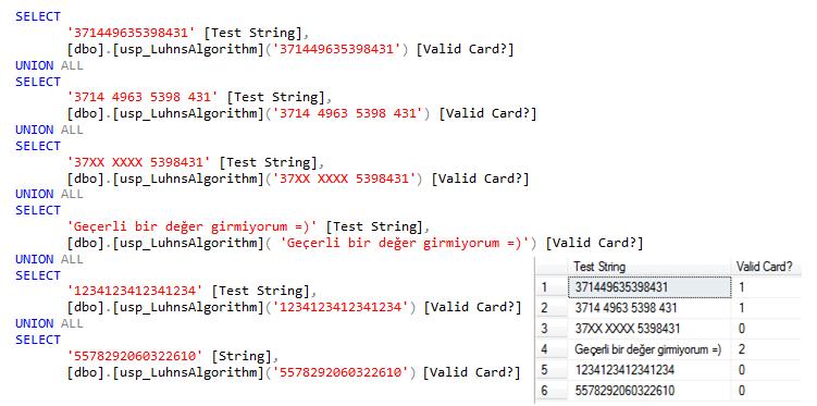 lhun algoritması sample code